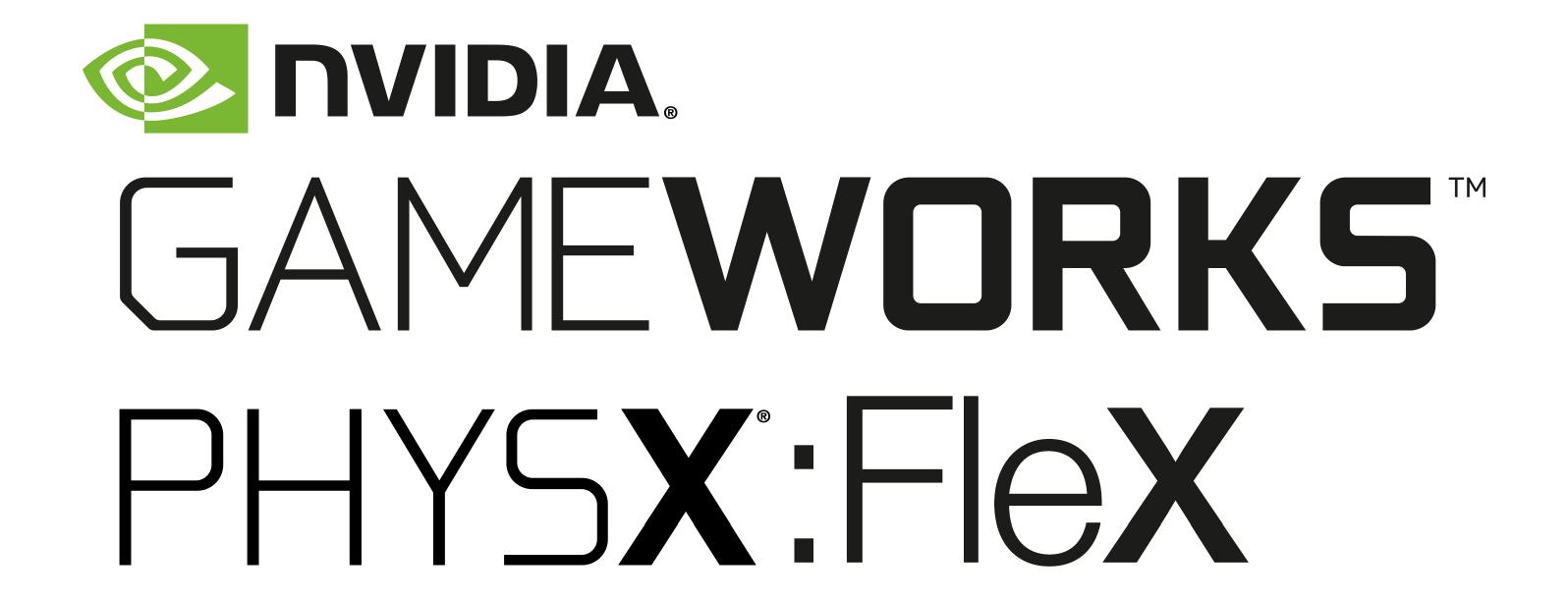 NVIDIA PhysX FleX logo