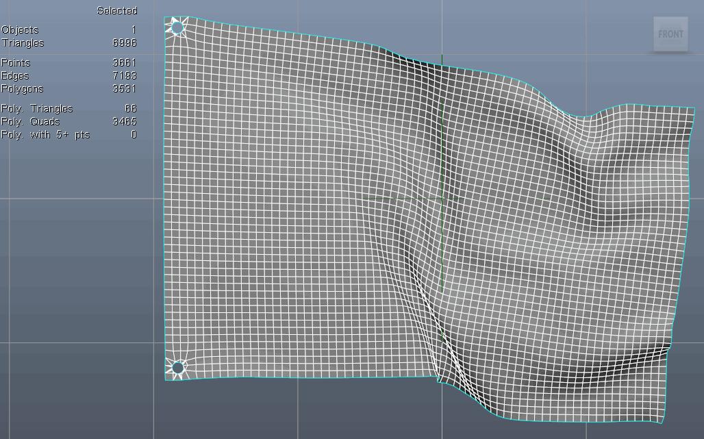 Syflex flag low-density simulation