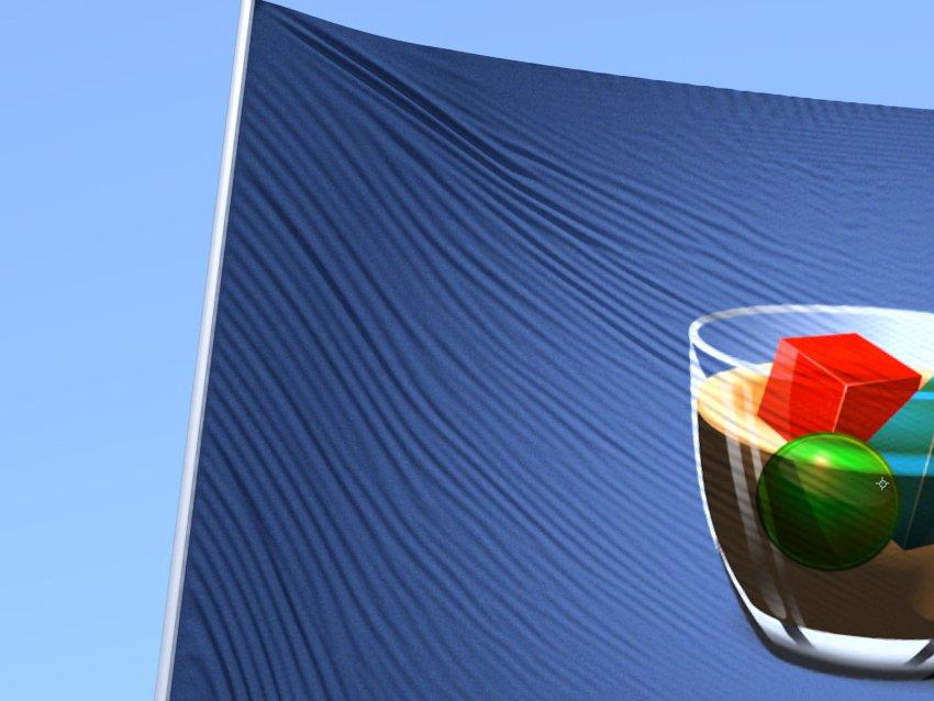 FleX dense flag simulation