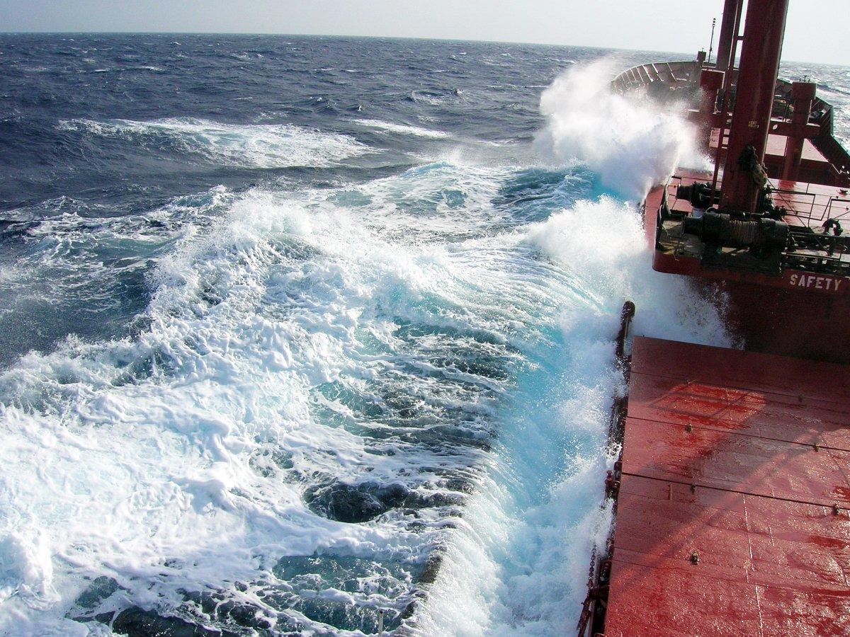 Sea storm photo