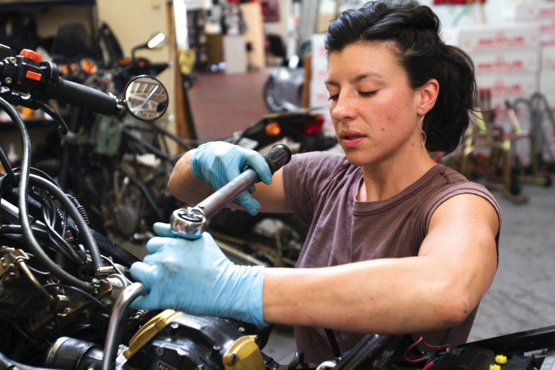 female mechanic photo