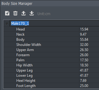 AXIS body size manager