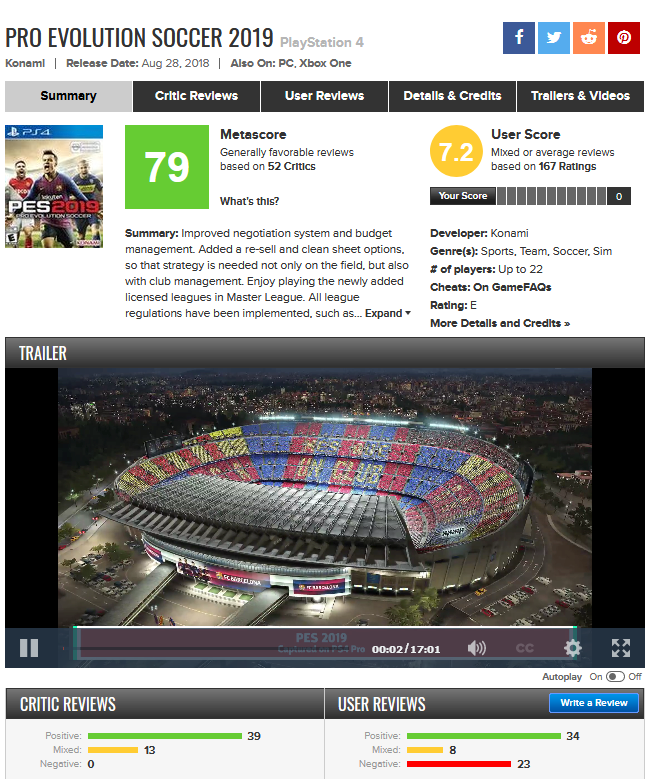 pes-metacritic-page