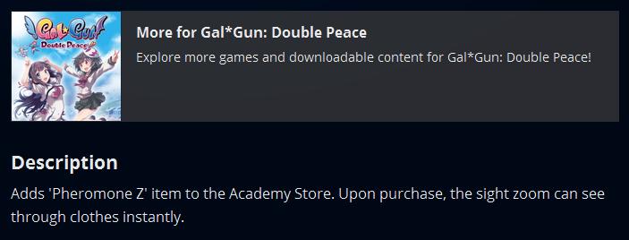 Gal*Gun Undress and zoom DLC