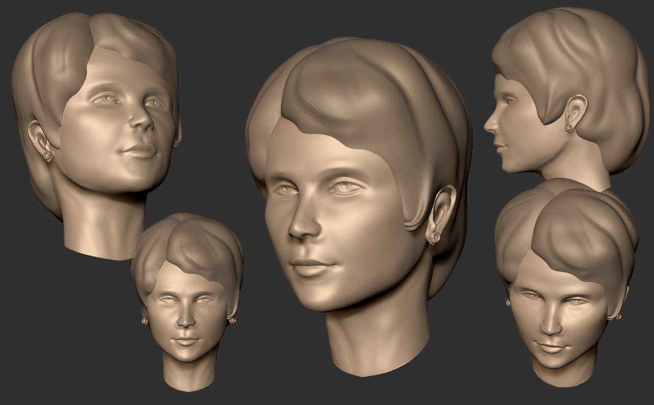 Woman head sculpt April 22, 2019