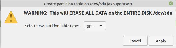 Linux Mint LVM EFI Partition Installation