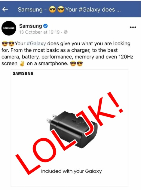 Samsung makes a promise