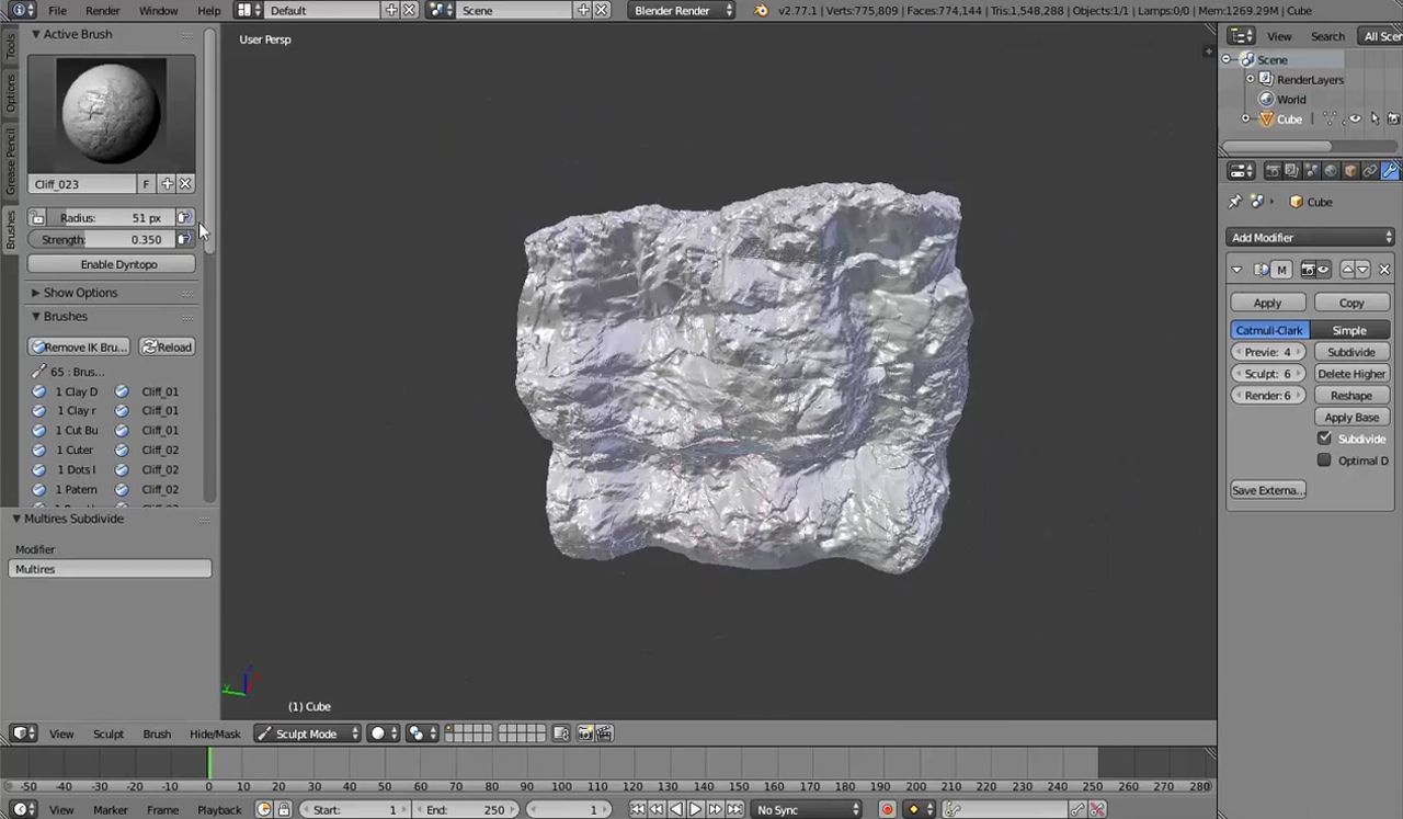 blender-sculpting