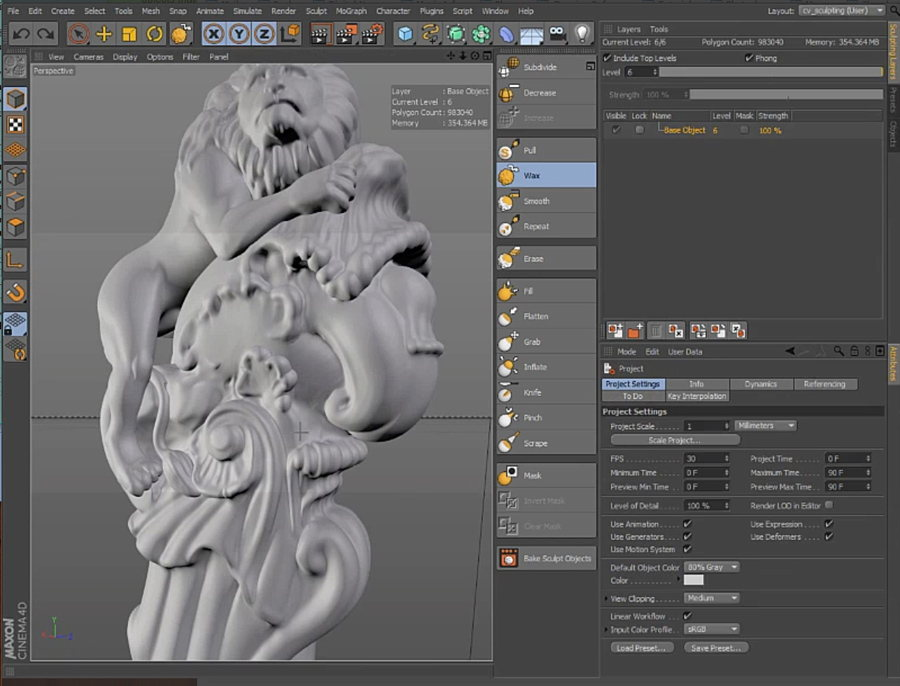 c4d-sculpting