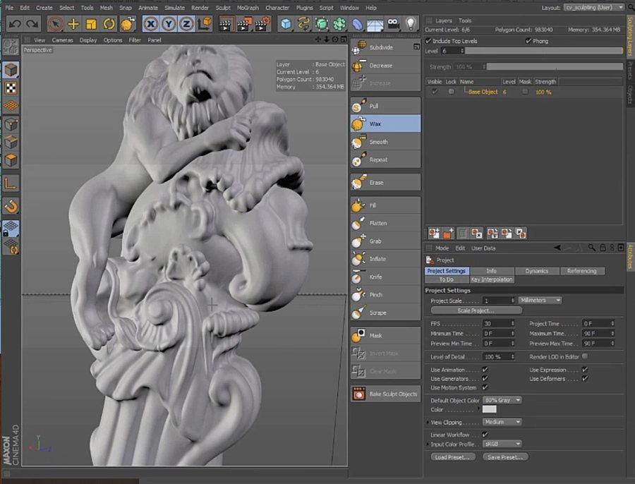 c4d-sculpting